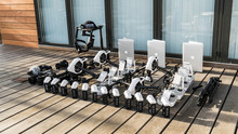 Drone Gear Staged With Macbooks And 4 DJI Inspire 1 Drones