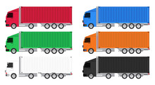 Colorful Truck Cargo Container...