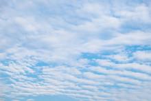 Cloud Wave Furrow Streaky In Blue Sky