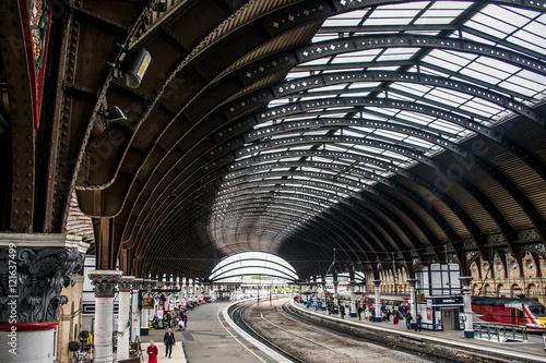 York railway train station yorkshire england