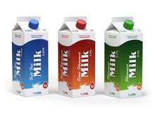 Milk Carton Packs Isolated On ...