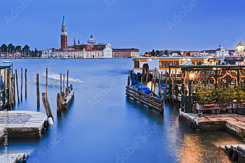 Poster Channel Venice Ducale 2 Maggiore Blue Sunset