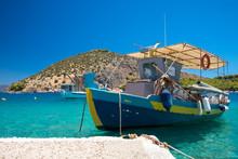 Fischerboot Vor Anker