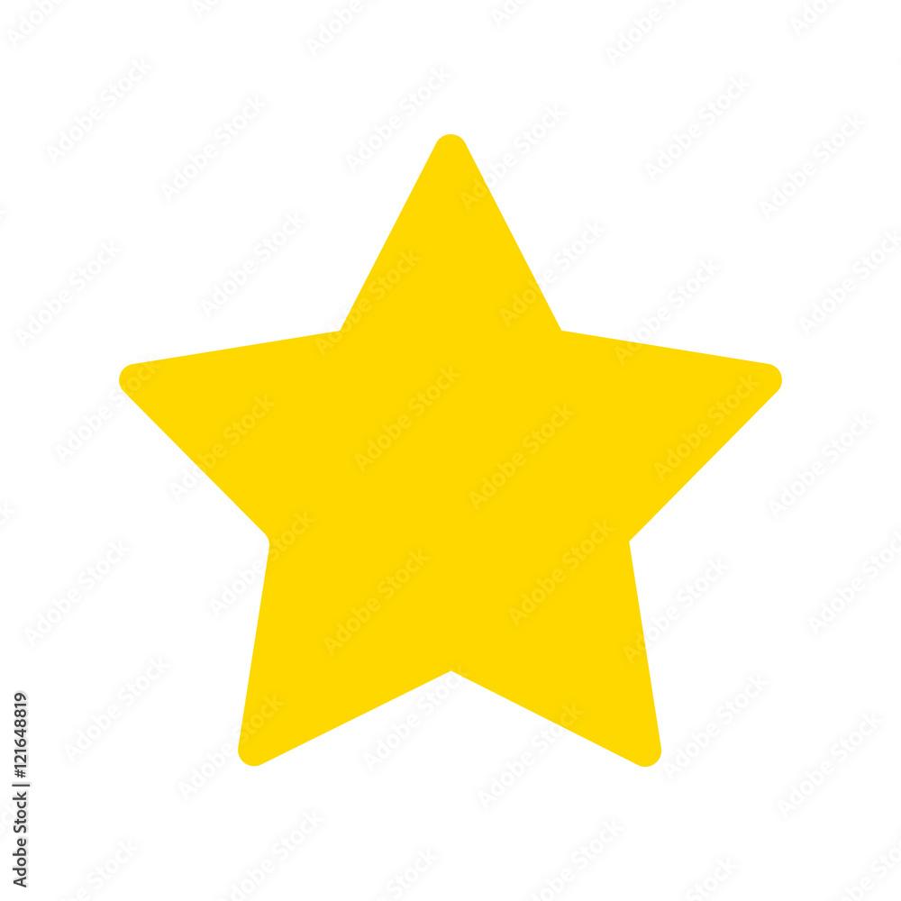 Fototapety, obrazy: Yellow star vector