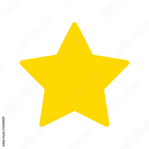 Cuadros en Lienzo Yellow star vector