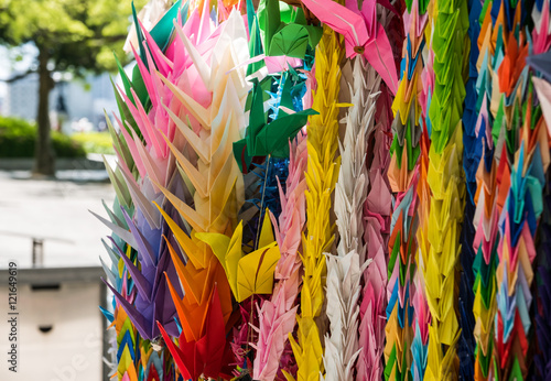 Garden Poster Bird-of-paradise flower Origami at Memorial Tower to the Mobilized Students
