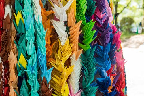 Foto op Aluminium Paradijsvogel bloem Origami at Memorial Tower to the Mobilized Students