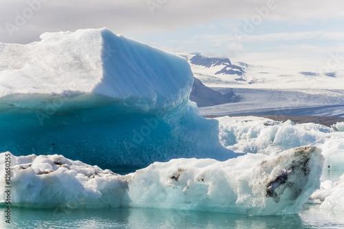 Aluminium Prints Glaciers Jokulsarlon glacier lagoon in southern iceland