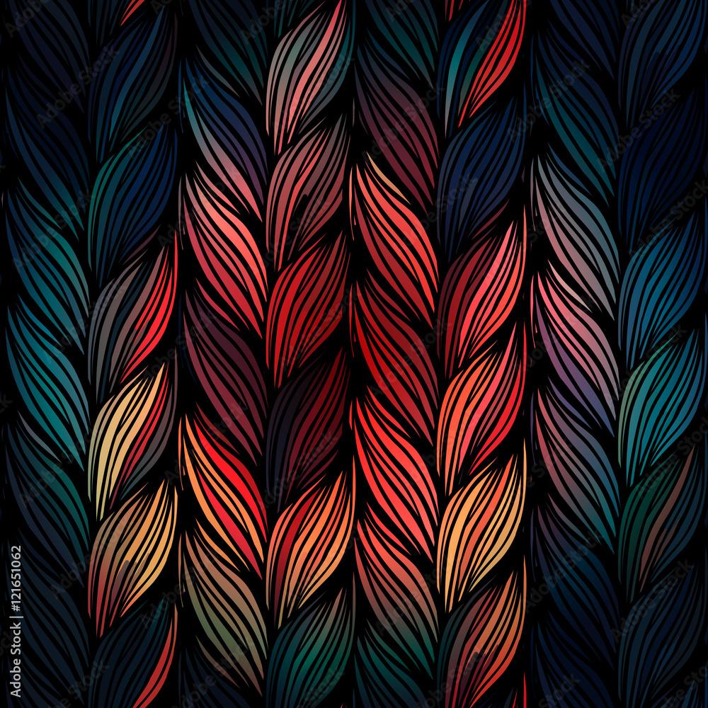 Fototapety, obrazy: Seamless pattern of braids.
