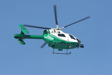 German Police Helicopter In Activity