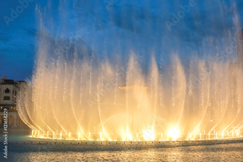 Fotografie, Obraz  Night view of the light show at Dubai Fountain