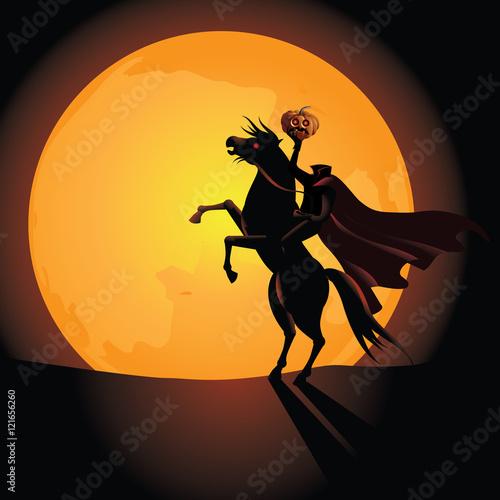 Photo  Headless Horseman background. EPS 10 vector.