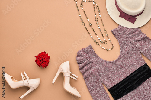 Fotografie, Obraz  Autumn Fashion woman Clothes Accessories Set