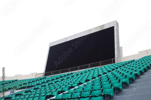 Foto op Plexiglas Stadion Blank scoreboard in outdoor stadium
