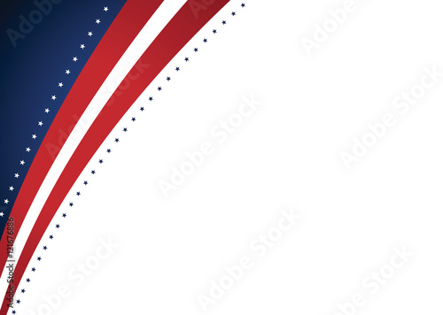 American Abstract Presidential Elections Stars and Stripes Background