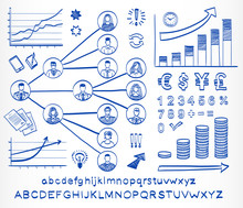 Business Doodle Set.