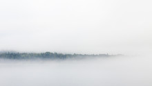 Sea Mist.  The Nova Scotia Coastline In Canada Is Shrouded In Sea Mist.
