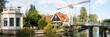 Zugbrücke über eine Gracht in Edam, Niederlande