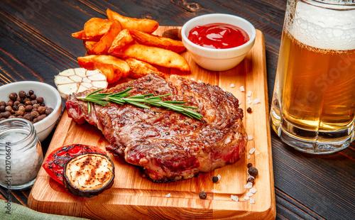 Fotografie, Obraz  Roasted organic shin of beef meat
