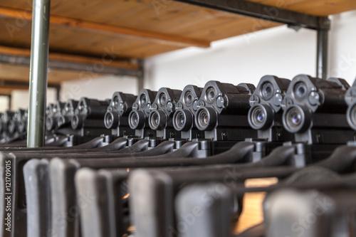Photo deutsche Gewehre in der Waffenkammer