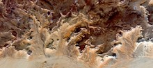 Petrified Forest Yellow, Allegory In The African Desert, Abstract Landscapes From The Air From The Deserts Of Africa, Surreal, Mirage In The Desert, Collection Of Abstract Naturalism Munimara,