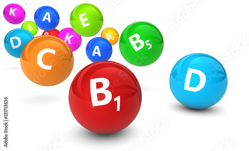 Fotografia  Vitamins Healthy Lifestyle Concept