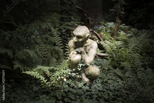 Photo  Garden Statue Ornament, Gremlin, Gargoyle, Pixie