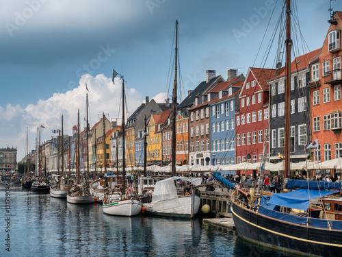 Garden Poster Scandinavia Nyhavn in Copenhagen harbor, Denmark