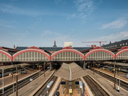 Photo Stands Train Station Copenhagen central railway station, Denmark