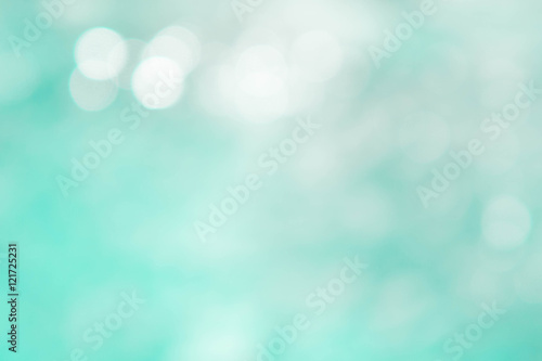 Printed kitchen splashbacks Green coral Texture bokeh style , summer bokeh blue wave blur style backgrou