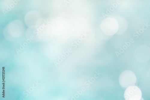 Photo Stands Light blue Texture bokeh style , summer bokeh blue wave blur style backgrou