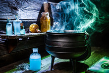 Vintage Witcher Cauldron With ...