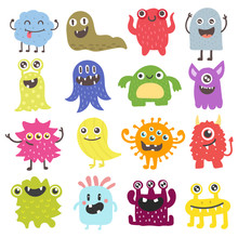 Cute Monster Color Character F...
