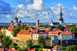 canvas print picture - Medieval old town of Tallinn, Estonia