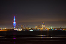 Spinnaker Tower And Portsmouth City Skyline At Night