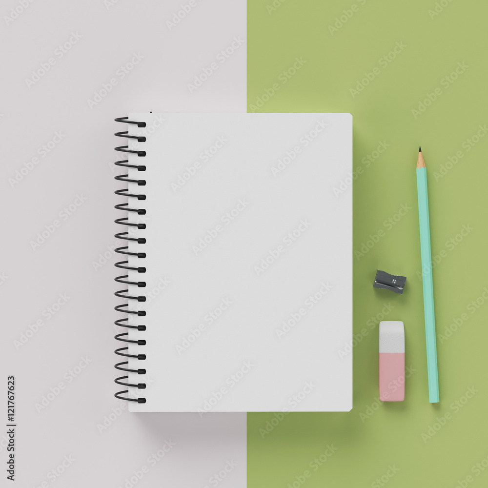 Sketch Book And Pens And Pencils For Art Work