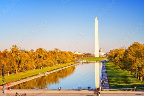 Washington Monument and pool in Washington DC, USA