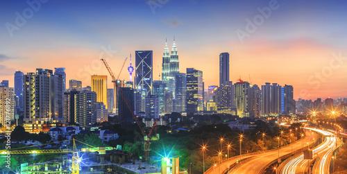 Kuala Lumpur city skyline on beautiful sunset Poster