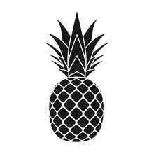 Pineapple With Leaf Icon. Trop...