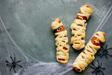 Mummy Sausage Wrapped In Dough Fun Food For Kid