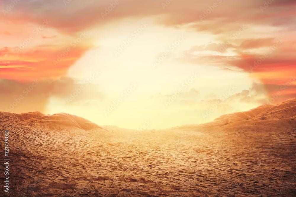 Sunset at desert