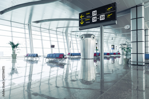 Fotografie, Obraz  Modern Airport Departure Lounge