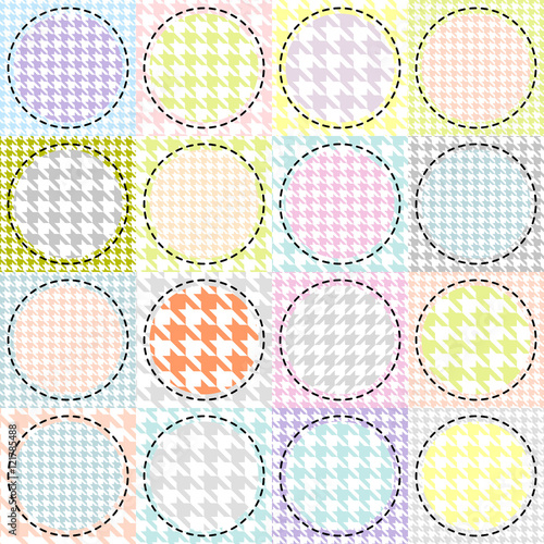 Photo  Patchwork with a circles pattern