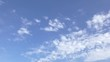 white clouds in blue sky - time lapse full hd video