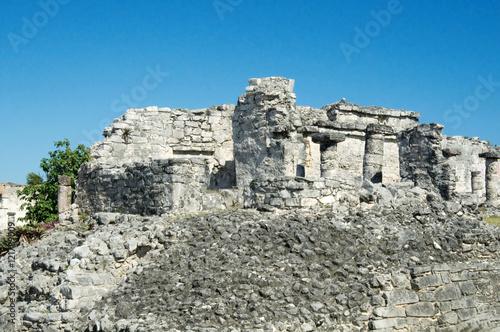 Deurstickers Rudnes Mayan pyramid, Tulum, Mexico