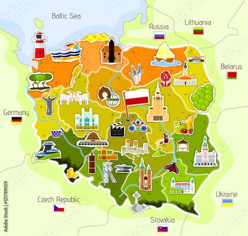 Plakat na zamówienie Mapa Polski