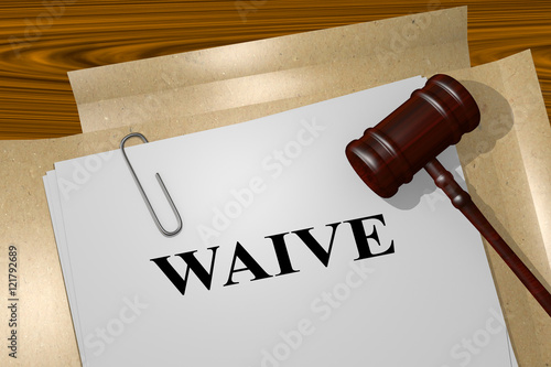 Waive - legal concept Canvas Print