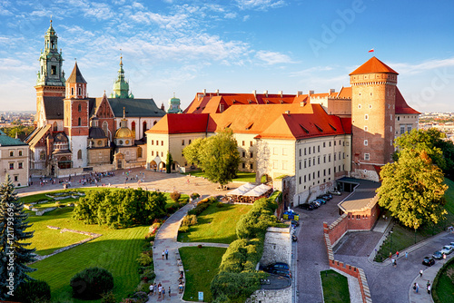 Poster de jardin Chateau Krakow - Wawel castle at day