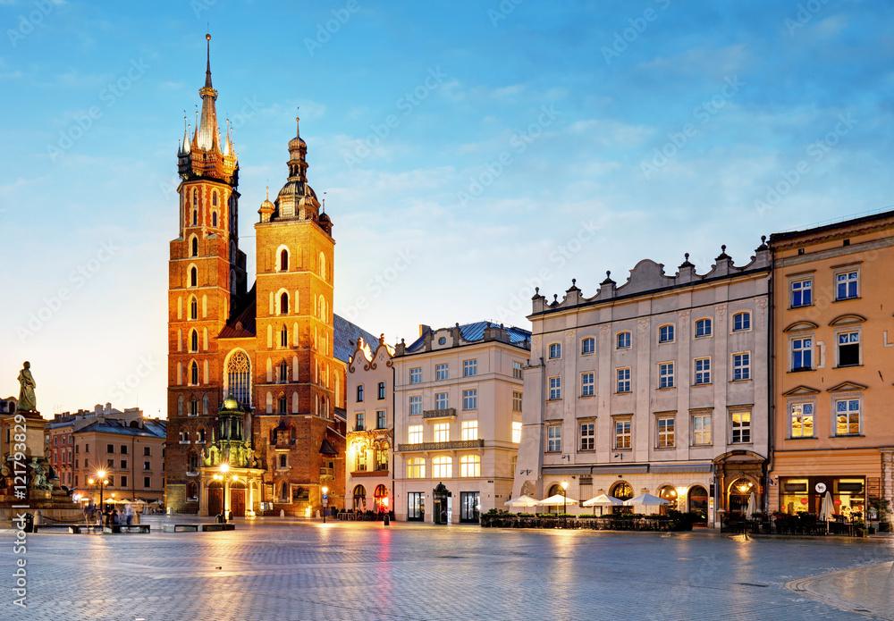 Fototapety, obrazy: Kraków o wschodzie słońca