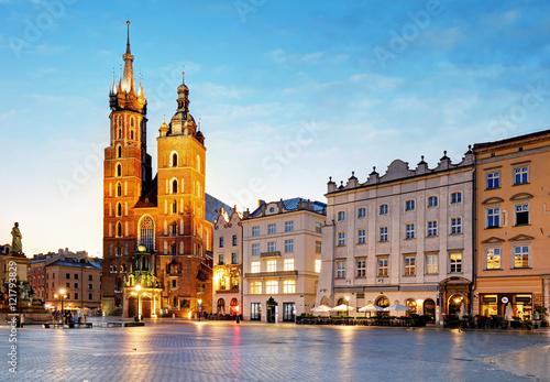 Obraz Kraków o wschodzie słońca - fototapety do salonu